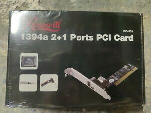 Rosewill 2+1 Ports FireWire 1394a Controller PCI Card RC-501 NEW Unopened