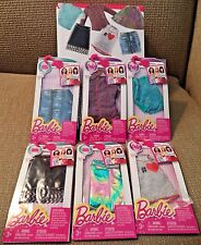 BARBIE FASHION PACK OF 6 TOP & SKIRTS CFX73 *NU*