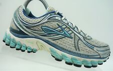 Brooks Gray Teal Blue Lace Up Athletic Running Sneaker Shoes Womens 6.5 B