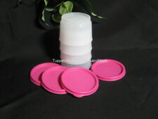 Tupperware  NEW Set of 4 Snack Cup Cups Bowls Lunch Pink Punch Seals