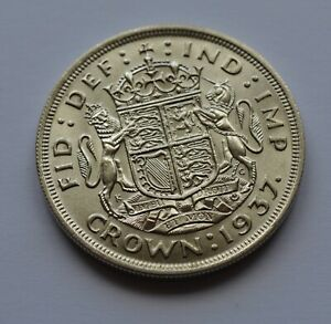 1939 Uncirculated  Crown George VI Silver Coin