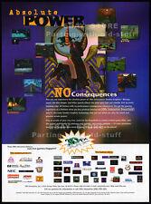 3Dfx Interactive__ABSOLUTE POWER__Original 1997 Print AD / promo_VOODOO Graphics