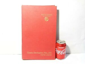 1951 Durham County Development Plan Analysis Book Fold-out Maps 320 Pages