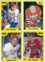 1989-90 ERIC LINDROS 7th Inning Sketch Pre Rookie Cards - 4 Card Lot