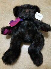 Bombay Teddy Bear Black Plush Wilson LE 2001 Annual 14in Velvet Pads by Russ