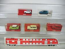AP341-0,5# 5x Herpa H0 PKW: 3088/3086 Trabant+Opel+022064 Mini Cooper, NEUF+OVP
