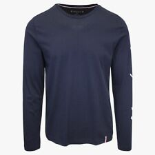 Tommy Hilfiger Men's Dark Navy Signature L/S T-Shirt (S01)
