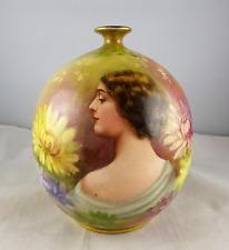Royal Bonn Porcelain Artist Signed Art Nouveau Female/Woman Portrait Vase
