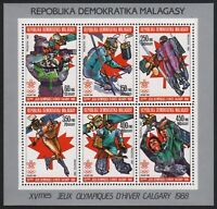 Madagaskar 1987 - Mi-Nr. 1065-1070 A ** - MNH - KLB - Olympia Calgary