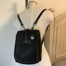 Dooney & Bourke Mini Small Backpack Black Pebbled Leather Vintage Bag Purse