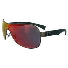 Shield Mirrored Metal & Plastic Frame Sunglasses for Men