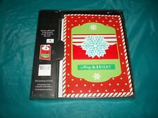 Merry & Bright 6 greeting cards with holders Christmas cards