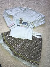 Naartjie sisi elephant africa outfit top eyelet skirt s In Size 9