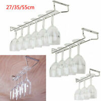 27/35/55CM Wine Glass Hanging Rack Holder Shelf Cabinet Restaurant Home Bar