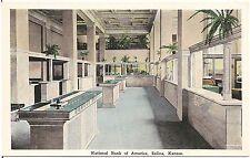 National Bank of America in Salina KS Postcard