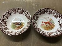 Spode woodland set of 4 Ascot  bowls- Lapwing+ Red Fox