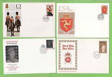 Isle of Man 1985 - 1994 Collection of four high value First Day Covers, Face £17