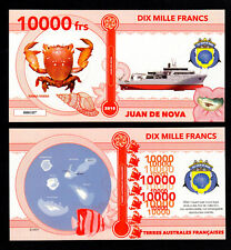 ★★ ILE JUAN DE NOVA ● TAAF ● BILLET POLYMER 10000 FRANCS ★ COLONIE FRANCAISE
