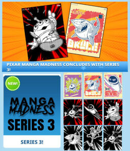 MANGA MADNESS SERIES 3-POSTERS+CHARACTERS-13 CARD SET-TOPPS DISNEY COLLECT