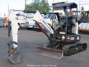 2015 Bobcat E26 Mini Excavator Rubber Track Backhoe Aux Hyd Diesel bidadoo