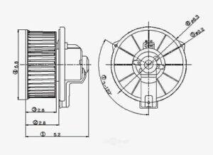 HVAC Blower Motor Rear Global 2311538