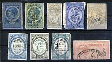 FRANCE A Valuable Early Group of Fiscals Including Imperf Timbres de Dimension