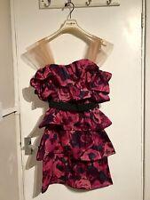 H&M X LANVIN  Pink Ruffle Dress Size 10 36 BNWT Designer Wedding Guest Dress