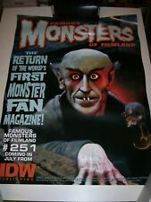 Famous Monsters of Filmland Magazine #251 Poster 18x24 Richard Corben 2010 SDCC