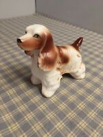 "Early 1900's Porcelain Cocker Spaniel Marked FOREIGN Made In England 3-1/2"" Tall"