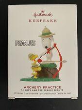 Hallmark 2019 Snoopy & Beagle Scouts Archery Prac Peanuts Ornament Free Ship