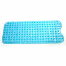 Sizw 99*39cm Blue Bathroom Bathtub Non-slip Bath Mat With Cushioned Bubbles Hot