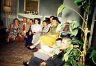 SZ13 ORIGINAL KODACHROME 1950s 35MM SLIDE LIVING ROOM COUPLES STYLE FASHION DESI