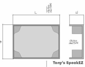 TDS Large Rectangle Oval Speaker Enclosure
