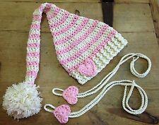 Conjunto Gorro Bebe Foto Sombrero Elfo Duende crochet Recién Nacido Ganchillo