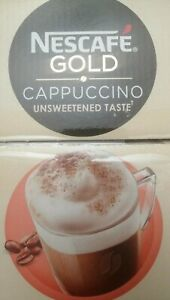 NESCAFE Gold Instant Coffee Cappuccino Unsweetened Taste (5 to 20 sachets) plus.