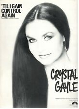 CRYSTAL GAYLE 'TIL I GAIN CONTROL AGAIN-SHEET MUSIC-PIANO/VOCAL/CHORDS-1976-NEW!