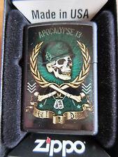Zippo Apocalypse Now Till I Die USMC Vietnam NAM Marines Skull Charlie dont surf