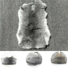 Gray Natural Rabbit Skin Leather Pelt High Quality Whole Hide Fur Craft Decor