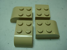 LEGO LEGOS  -  Set of 4  NEW Modified  Brick  2 x 3 with Curved Top  TAN