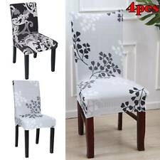 4pcs Stretch Spandex Chair Covers Removable Slipcovers Seat Cover Dining Room