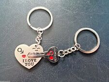 Key to my Heart key ring Set, I love you - for him and her - valentine, birthday