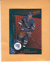 1997 98 PACIFIC DYNAGON EMERALD GREEN #79 ALEXEI KOVALEV NEW YORK RANGERS