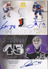 07-08 The Cup Jonathan Bernier /45 Auto Patch Honorable Numbers 2010