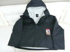THE NORTH FACE MEN'S VENTURE  JACKET SIZE M NWT NAVY RELAXED FIT BURGANDY LOGO