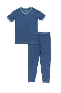 NEW Kickee Pants Short Sleeve Pajama Set in Twilight with Neptune, size 4T