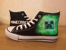 MINE CRAFT CUSTOM HAND PAINTED HIGH TOPS. MADE TO ORDER