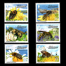 Alderney 2009 - Bees Insects - Sc 338/343 Mnh