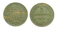 pcc1392_18) Repubblica San Marino Vecchia Monetazione Cent 5 -  1894