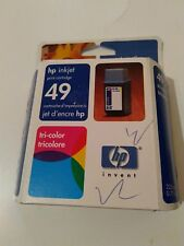 HP GENUINE Ink Cartridge 49 poduct 51649AC Tri Color expired 11-2004 sealed