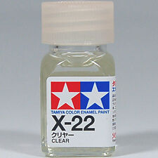 TAMIYA COLOR ENAMEL X-22 Clear MODEL KIT PAINT 10ml NEW